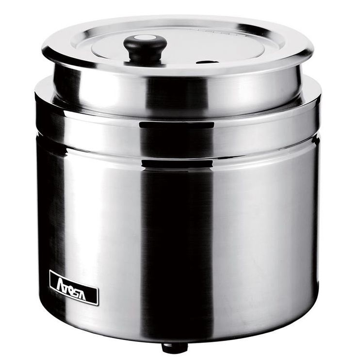 Atosa AT51388 Commercial Electric Stainless Steel Soup Kettle with Insert & Lid #Atosa