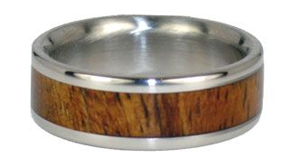 Koa Wood+Titanium ring, handmade in Hawaii. I will get this for Chris to celebrate our five year anniversary!