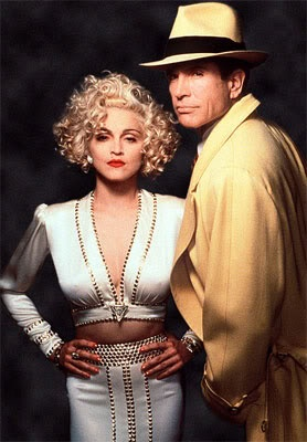 .Dick Tracy directed by  Warren Beatty, with Warren Beatty and Madonna,1990