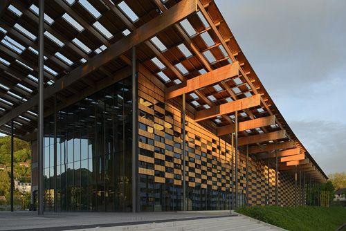 City centre: Cite des Arts et de la Culture, Besaçon, France by Kengo Kuma & Associates.