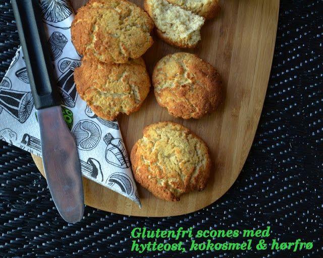 Brændstof: Scones med hytteost, kokosmel & hørfrø (glutenfri)...