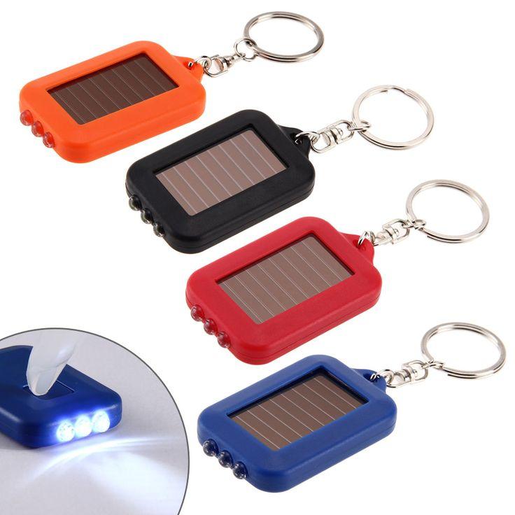 Multifunktionale Solarenergie 3 Licht LED Taschenlampe Schlüsselanhänger Zubehör Außen Mini Lamm BHU2