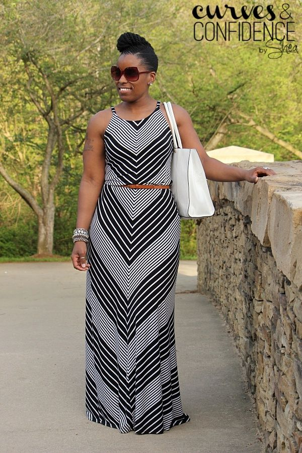 Curves and Confidence   A Miami Style Blogger: Vacation Wear: Chevron Maxi Dress