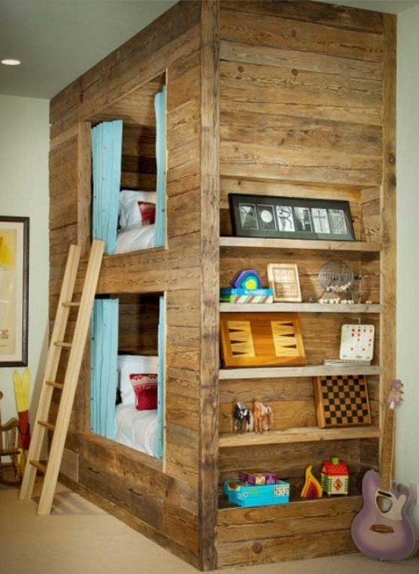 Cool kids bunkbed based on the old dutch 'bedstee'