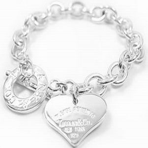 Return To Tiffany  Co Outlet Heart Tag Engraved Toggle Bracelet