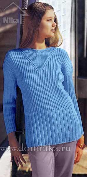 Простой вязаный свитер