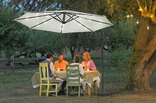 Cantilever Parasol With Solar Light System for £74.99 With Free Delivery (58% Off)