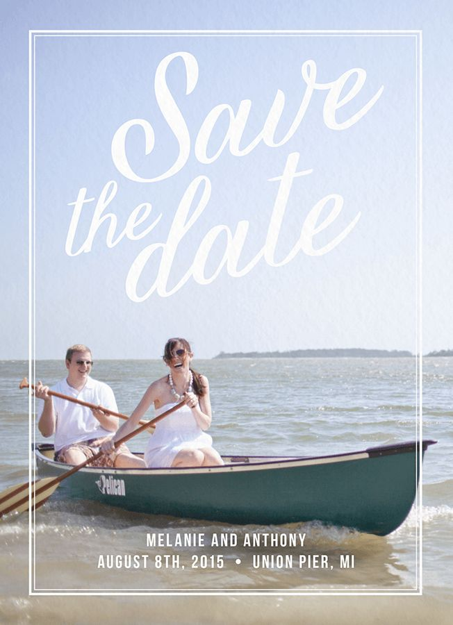 Charming Save The Date card by Postable on Postable.com