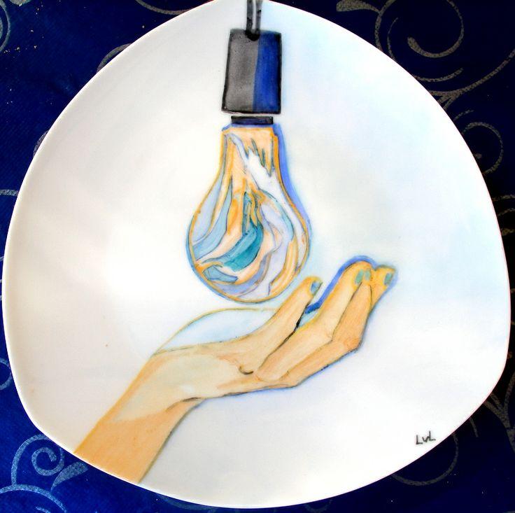 Beschilderd porselein