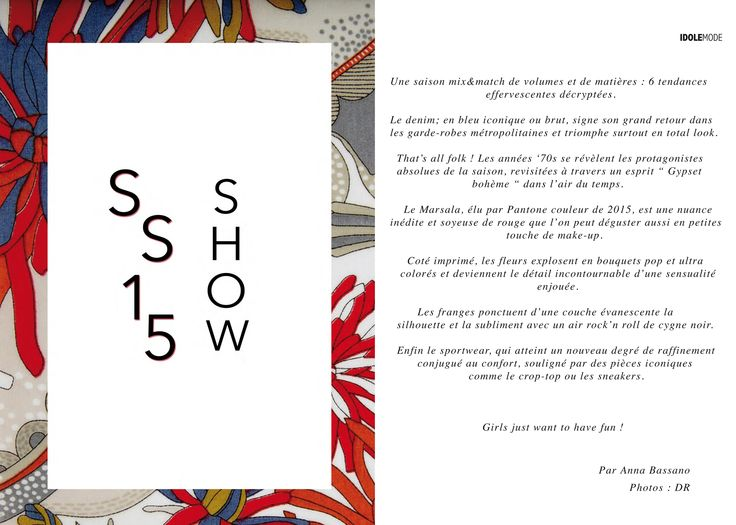 SS15 Show