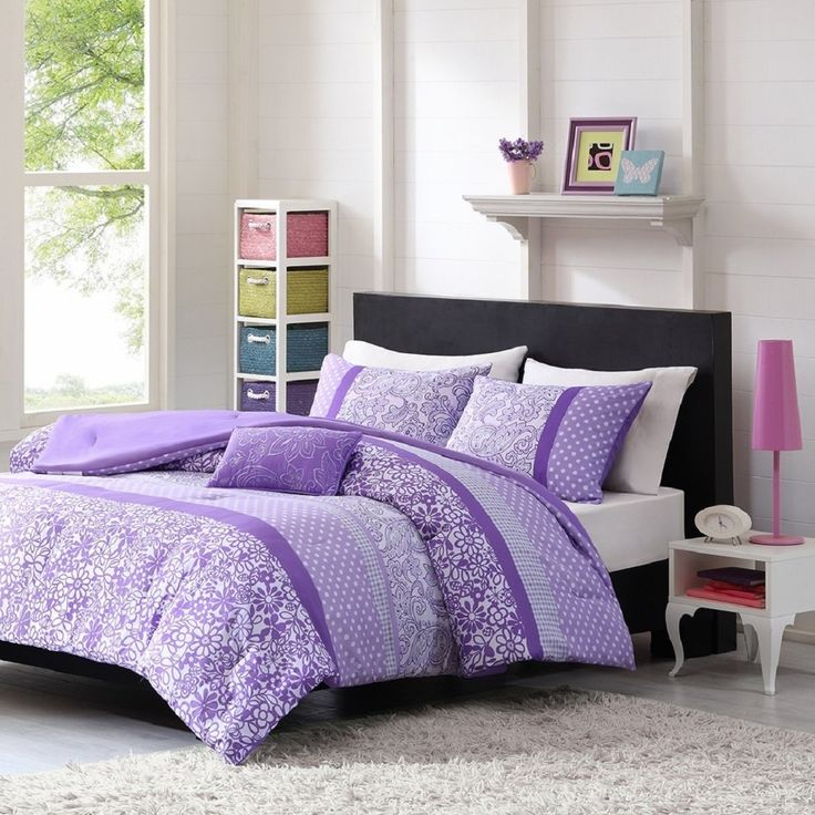Teen Girl Comforter Sets Purple Lavender Lilac Bedding