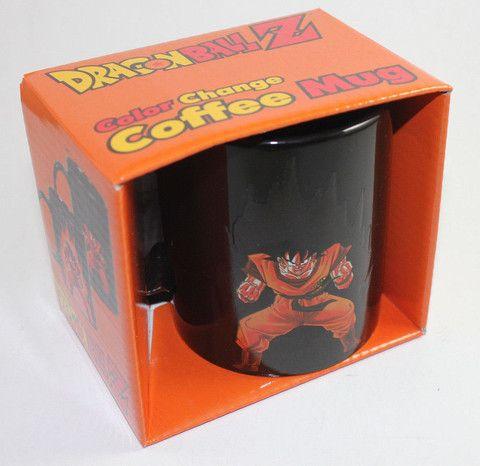 COLLECTIBLE DRAGON BALL Z COLOR CHANGING COFFEE MUG HEAT REACTIVE GOKU RARE