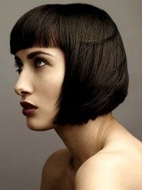 Pageboy Haircut, the Special Retro Bob  I like this length, but the blunt bangs are not my thang