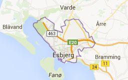 Map of esbjerg denmark