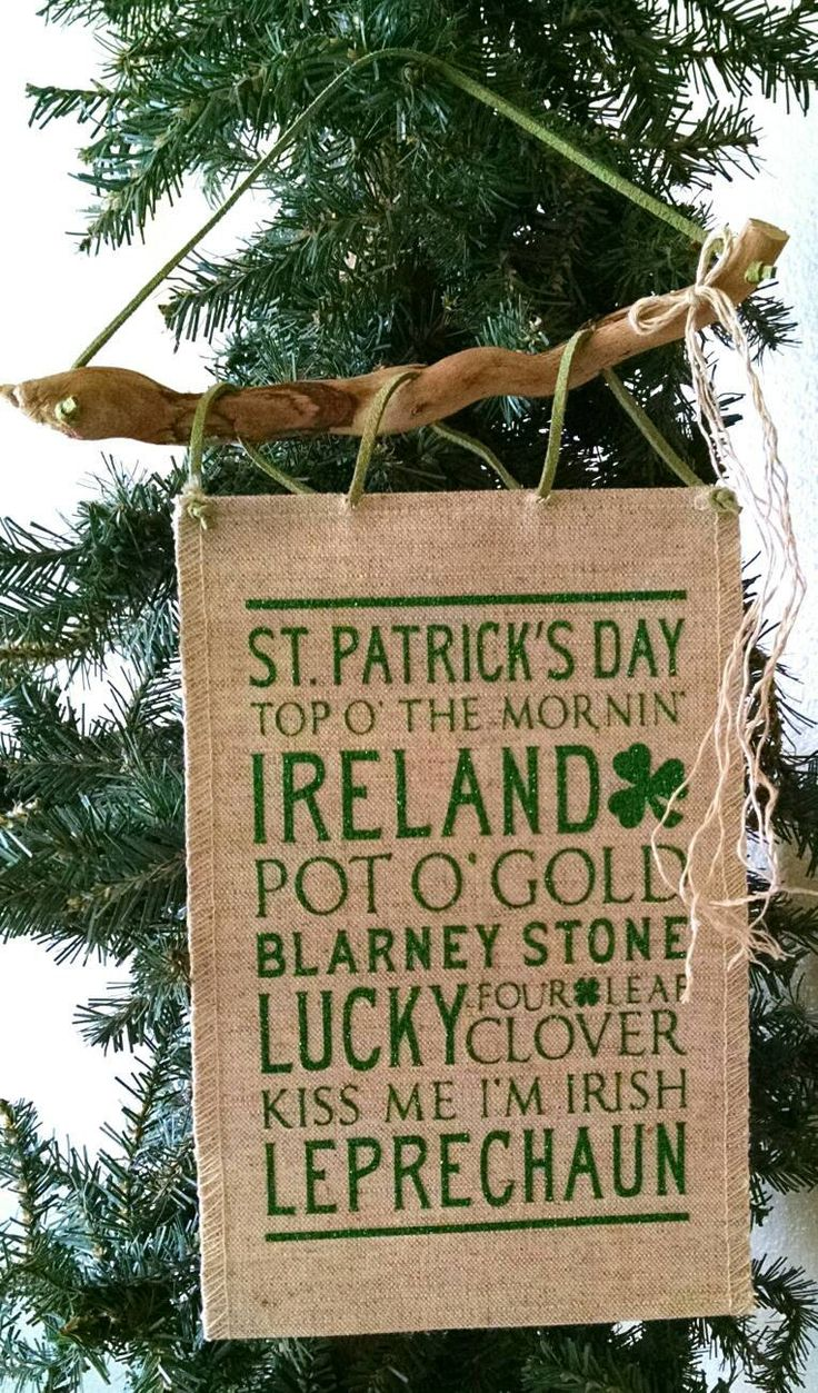 St. Patrick's Day Wall Art, Wall Hanging, Boho Art,  Southwestern Wall Decor, Driftwood Art, Holiday Decorations, Ornament, by TheDriftingStones on Etsy