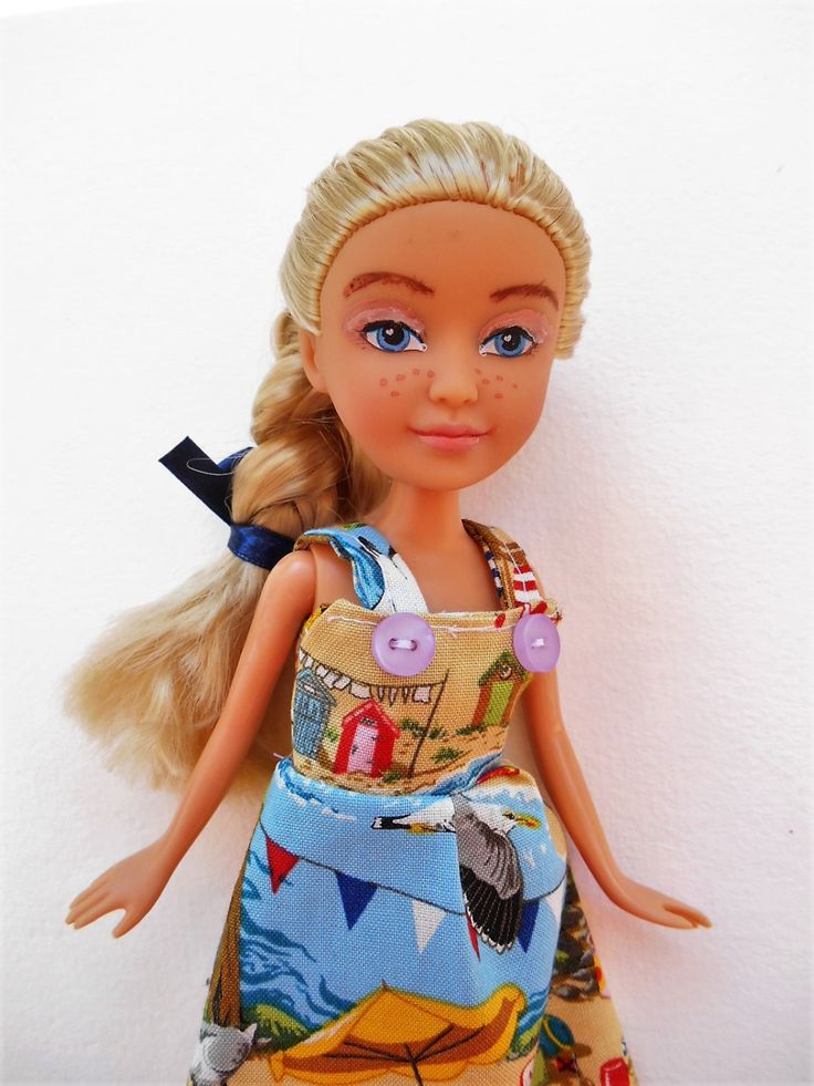 Make under 10 inch Sparkle Girls Doll- Hand made summer dress- Hand crafted play…