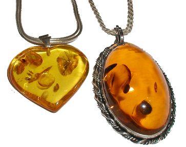 bijoux ambre et monture argent