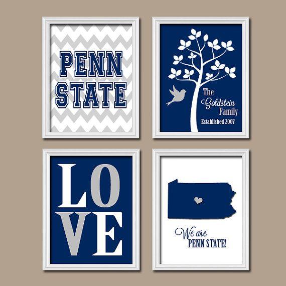 PENN State University College Custom Family Monogram by trmDesign, $35.00