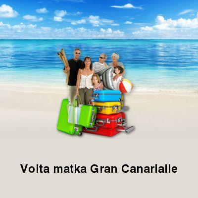 Kilpailuja ja Arvontoja: Voita matka Gran Canarialle!