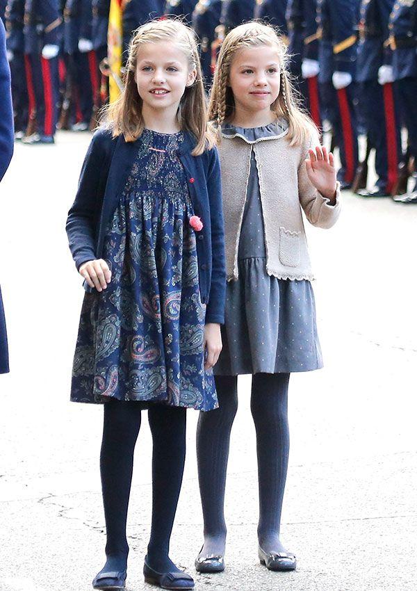 Leonor, la Princesa de Asturias y la Infanta Doña Sofía durante la Celebración del Día de la Fiesta Nacional (Día de la Hispanidad), Madrid, 12.10.2015