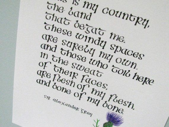 Scottish Poem Quote Calligraphy Scottish by HeyYallHandmade