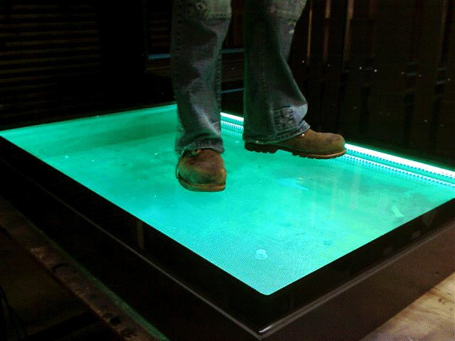 Walk on LED Glass - what's your favourite colour?