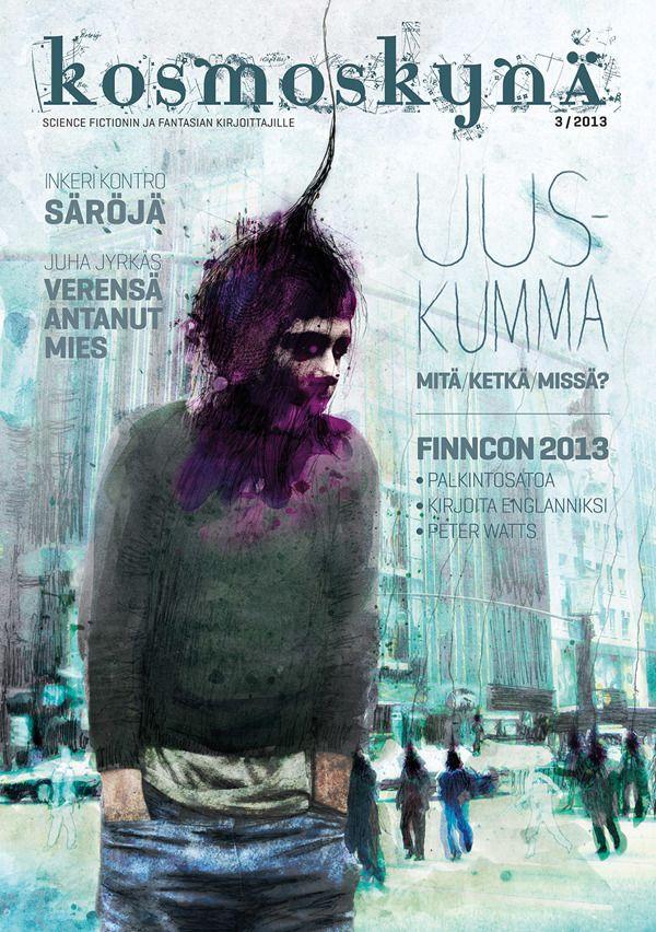 Kosmoskynä #3 / 2013 cover design & illustration by Teemu Helenius, via Behance