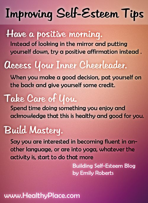 how to keep your self esteem high