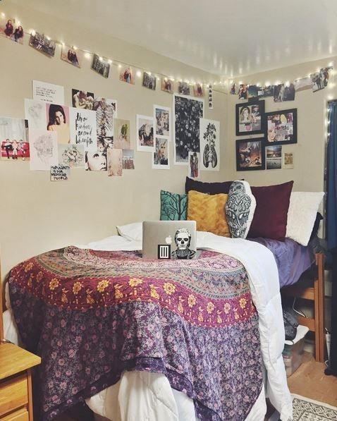 212 best Dorm Inspiration images on Pinterest | Bedroom ideas ...
