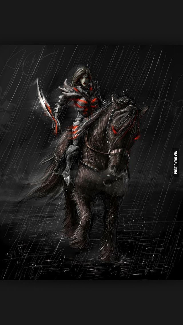 Daedric Armor and Shadowmere. That looks exactly like my person except with a daedric great sword