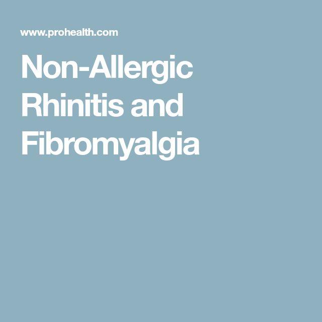 Non-Allergic Rhinitis and Fibromyalgia