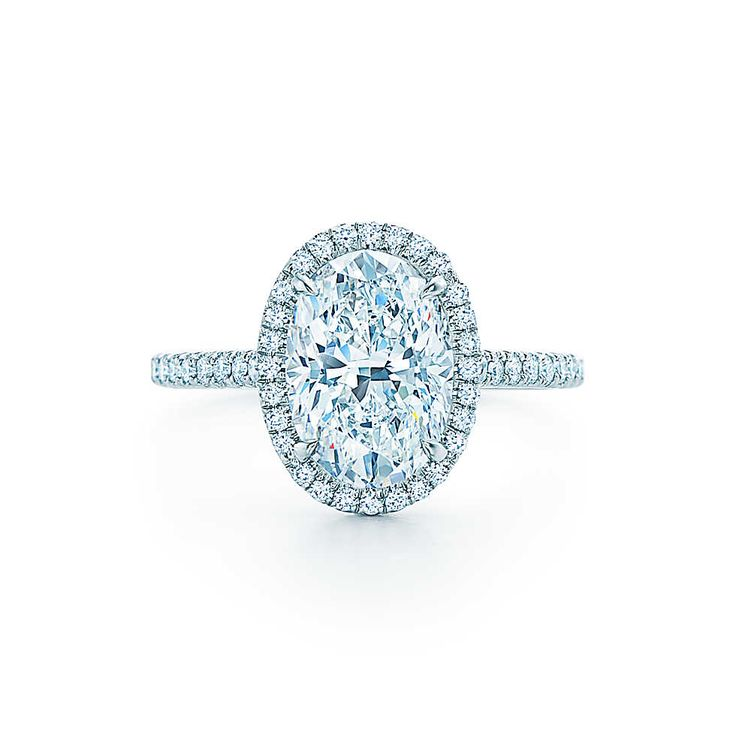 Tiffany Soleste 174 Oval Halo Engagement Rings And Oval