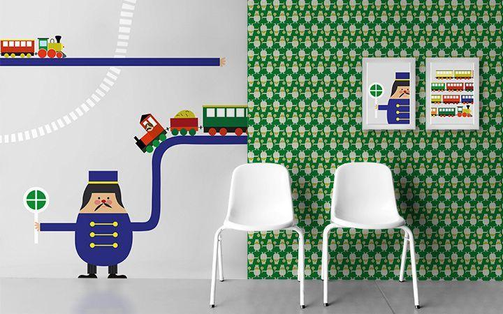 kolekce Trains - designové tapety DecorPlay