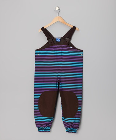 Take a look at this Sky & Purple Jolla Peach Bib Pants - Infant, Toddler & Kids by finkid on #zulily today!