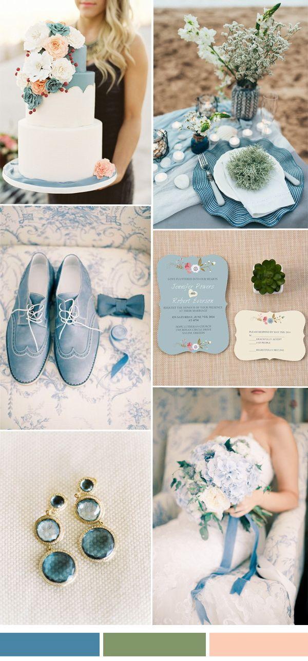 green and niagara blue wedding color ideas for spring summer 2017