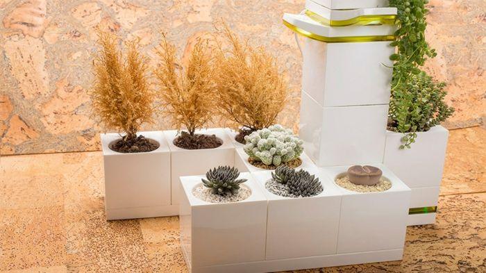 M s de 25 ideas incre bles sobre macetas grandes en for Jardineras para interiores