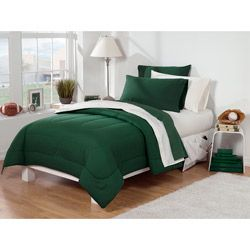 Hunter Green / Ivory 30-pieceTwin Extra Long Dorm Room Superset