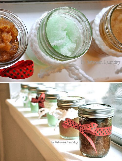 Homemade Bath Scrubs / 50 Tiny And Adorable DIY Stocking Stuffers (via BuzzFeed)