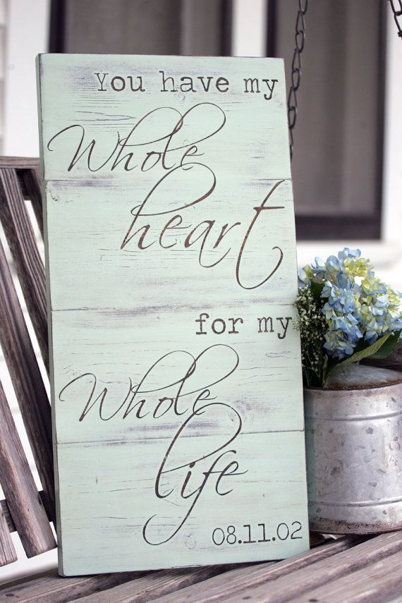 Wedding date sign You have my whole heart for by SweetSignsOfLife, $49.00