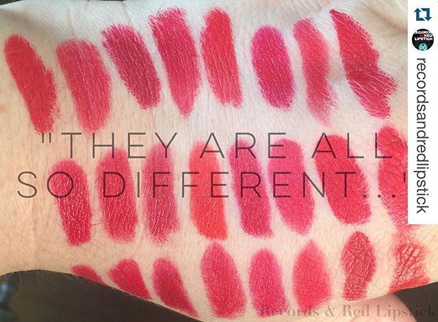 #Repost @recordsandredlipstick with @repostapp. ・・・ Can't have too many. #redlipstick #redlips #lipstick #makeup #makeupaddict #makeupjunkie #makeuplover #lipsticks #lipstickswatches #swatches #lipstickjunkie #lipsticklover #lipstickcollection #somanyredlipsticks #redlippies #makeupcollection #mycollection