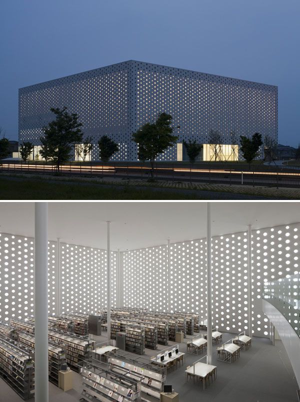Kanazawa Umimirai Library, Kanazawa City, Japan  Click image to see the full list of beautiful libraries.