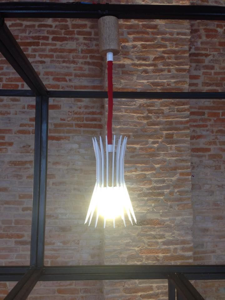 Made by La Designarie, Bucharest - Romania,  Erizo ceiling lamp, Designer: Alexandra Morosanu