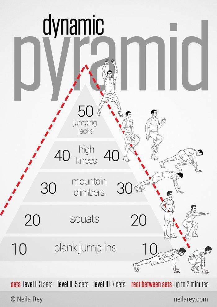 ejercicios en piramide