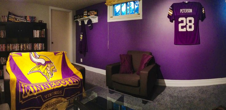Vikings Man Cave Jerseys Displayed Using The Ultra Mount