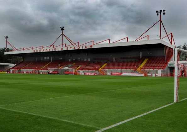 Crawley Town FC , Broadfield Stadium.(Pic by Jon Rigby)