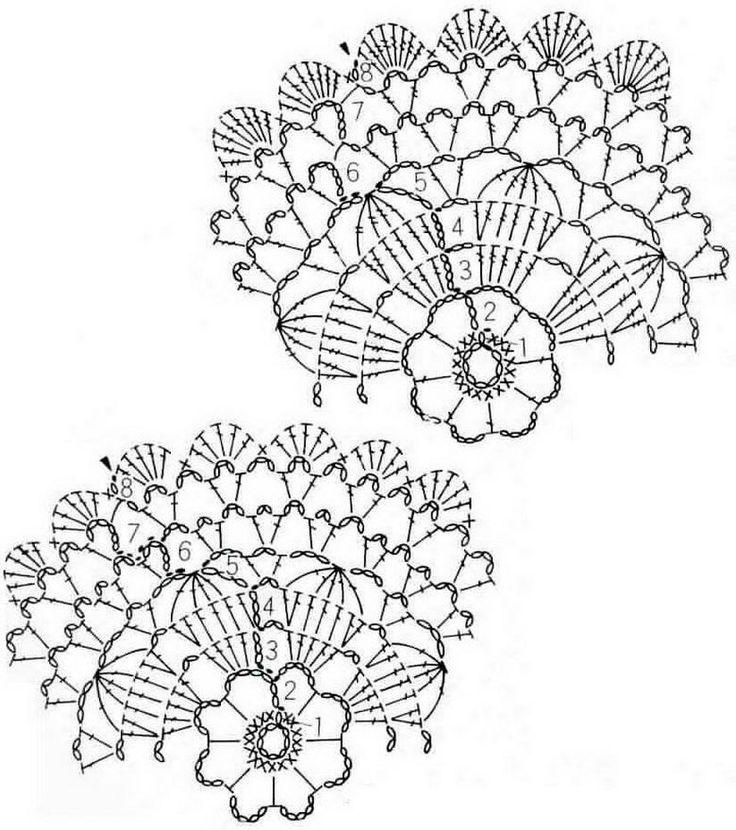 Crochet Art: Crochet - Crochet Doilies Pattern Free. Begli schemi di mani di fata per piccoli centrini.