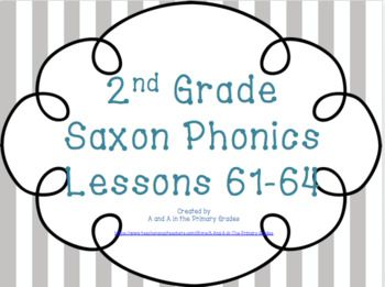 Save $3.00 to buy 4 lessons together. These files go perfectly with the 2nd Grade Saxon Phonics scripts. You must have SmartNotebook to use this product. 2nd Grade Saxon Phonics Interactive Whiteboard Lessons *Growing Bundle*