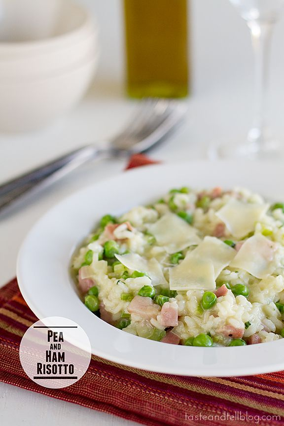 Pea and Ham Risotto | www.tasteandtellblog.com