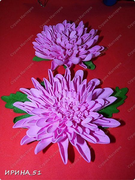 Здравствуйте! Представляю Вам МК по хризантеме из фоамирана. фото 1