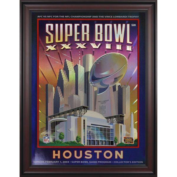 "Fanatics Authentic 2004 Patriots vs. Panthers Framed 36"" x 48"" Canvas Super Bowl XXXVIII Program - $299.99"
